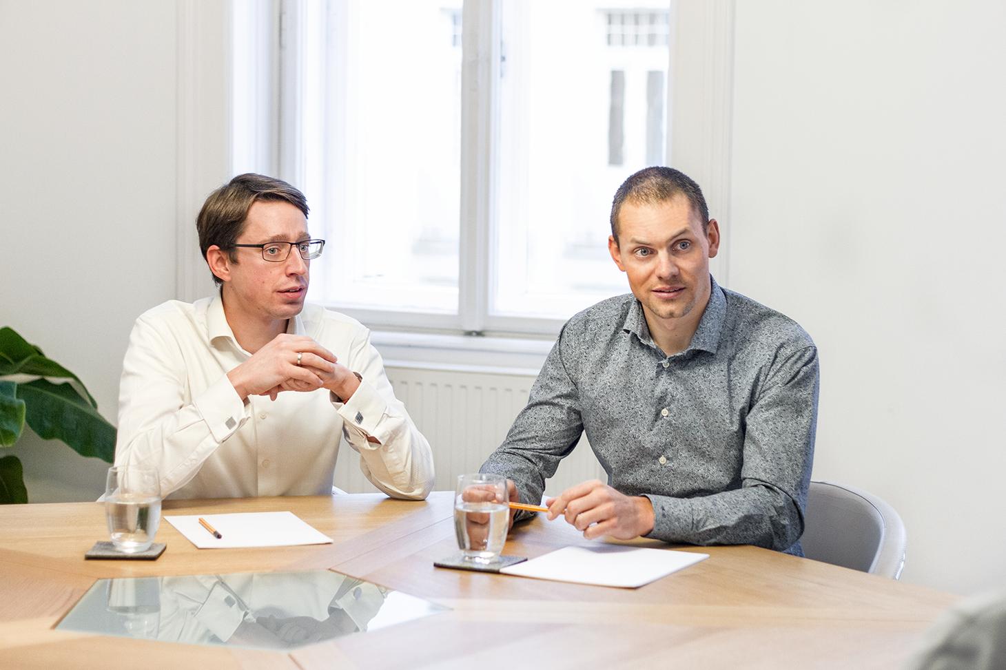 Markus Vock und Markus Dittrich im Gespräch.
