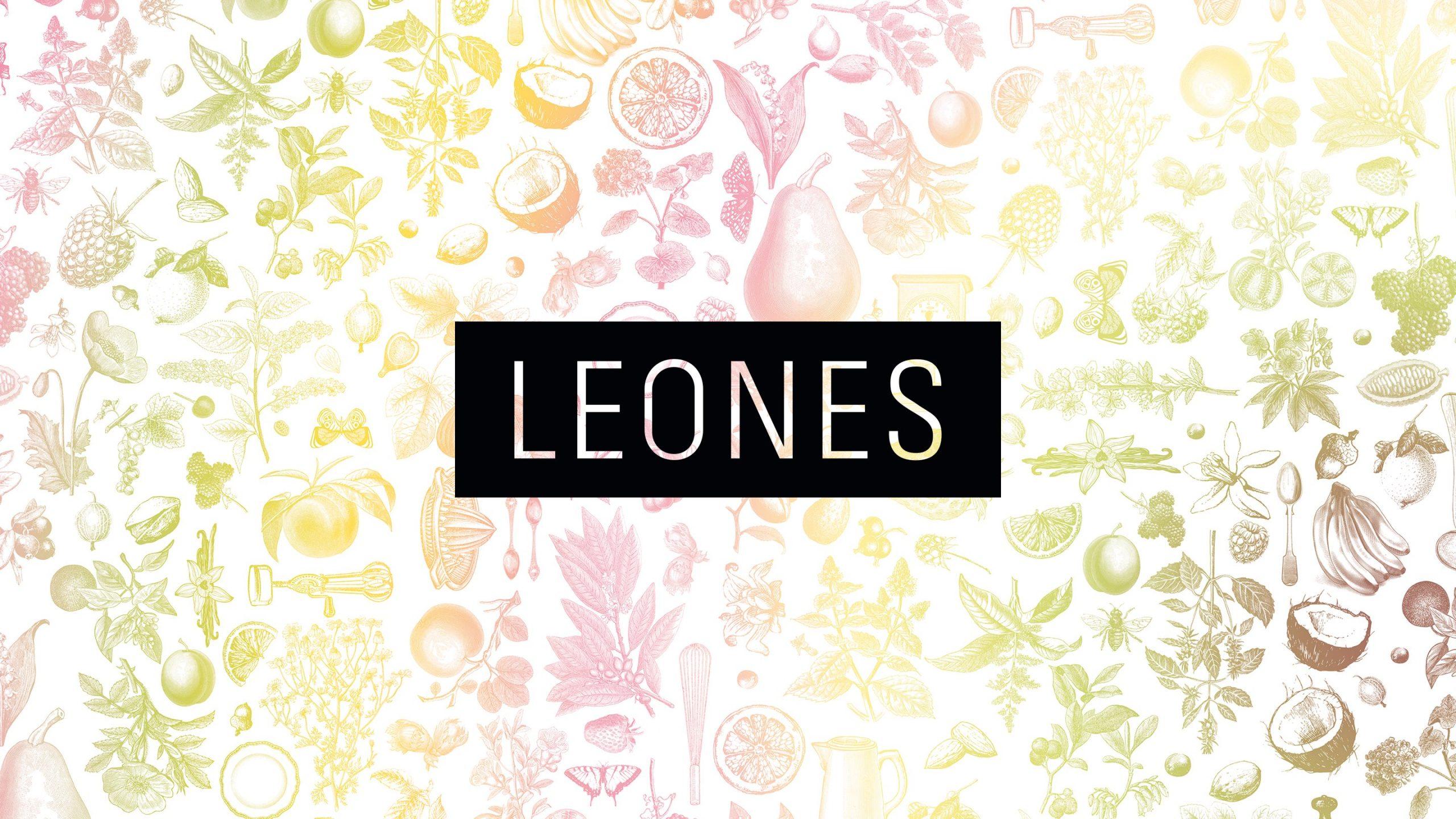 Leones Logo auf Patternhintergrund
