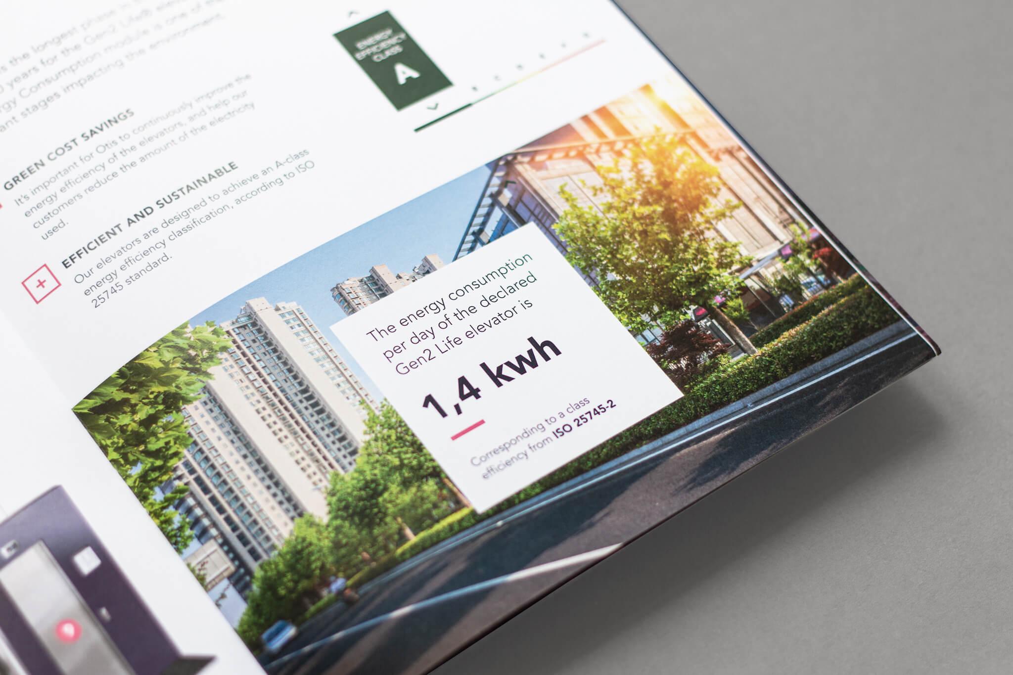 Otis Editorial Design Broschüre Key Fact