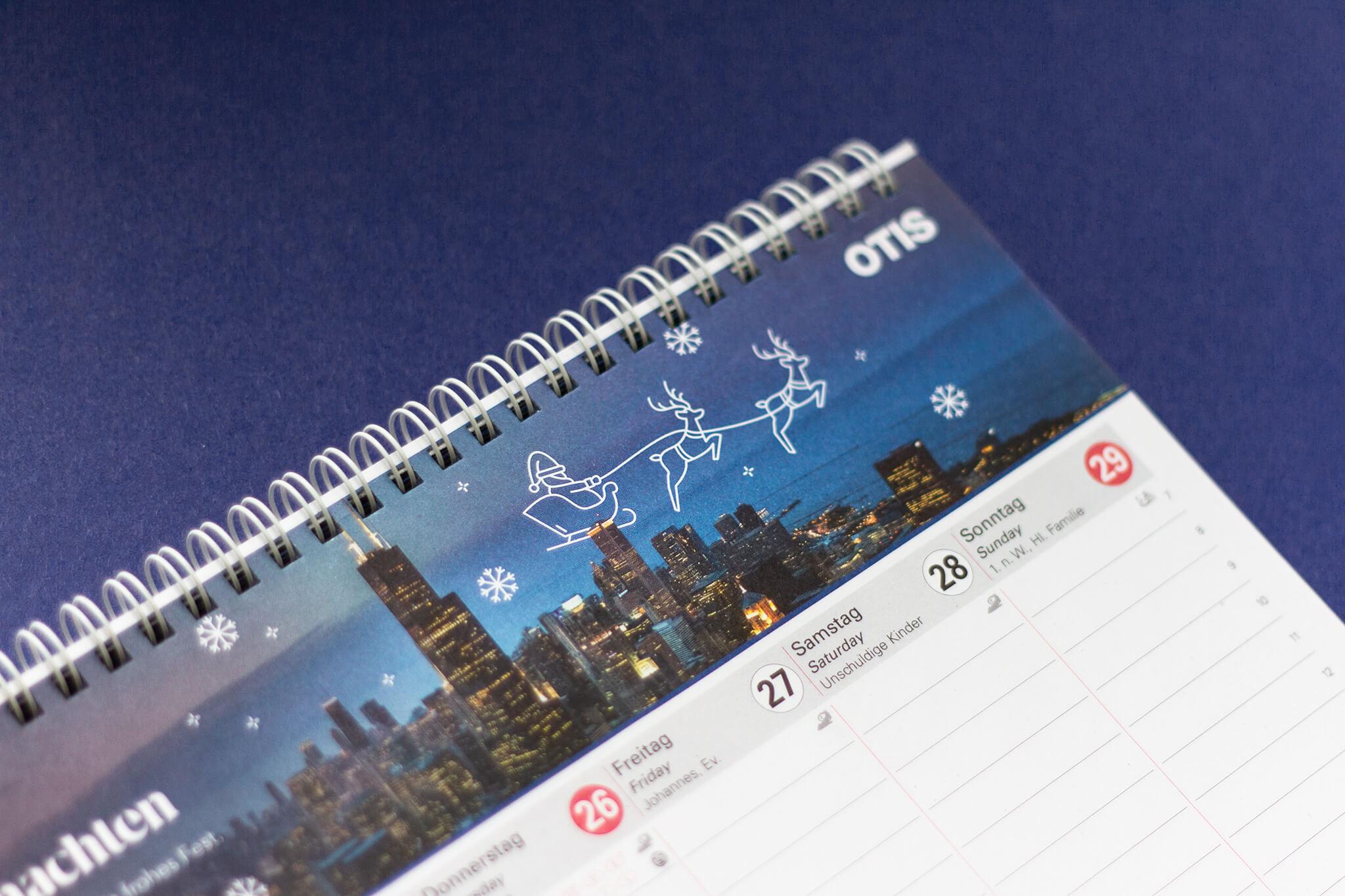 Otis Stehkalender mit individuellen Illustrationen
