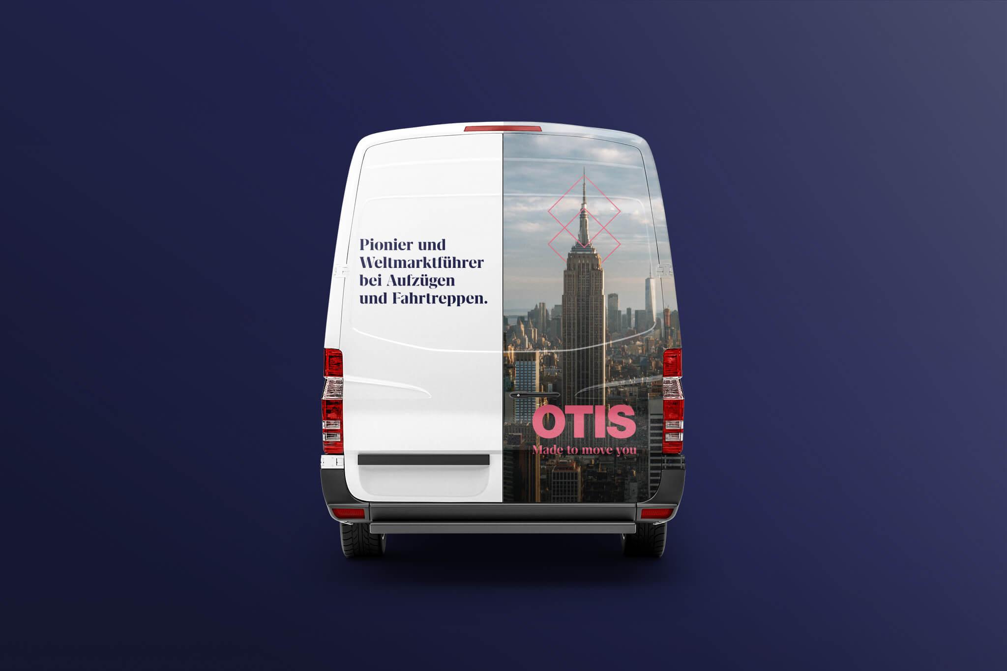 Otis Autobeklebung mit Empire State Building