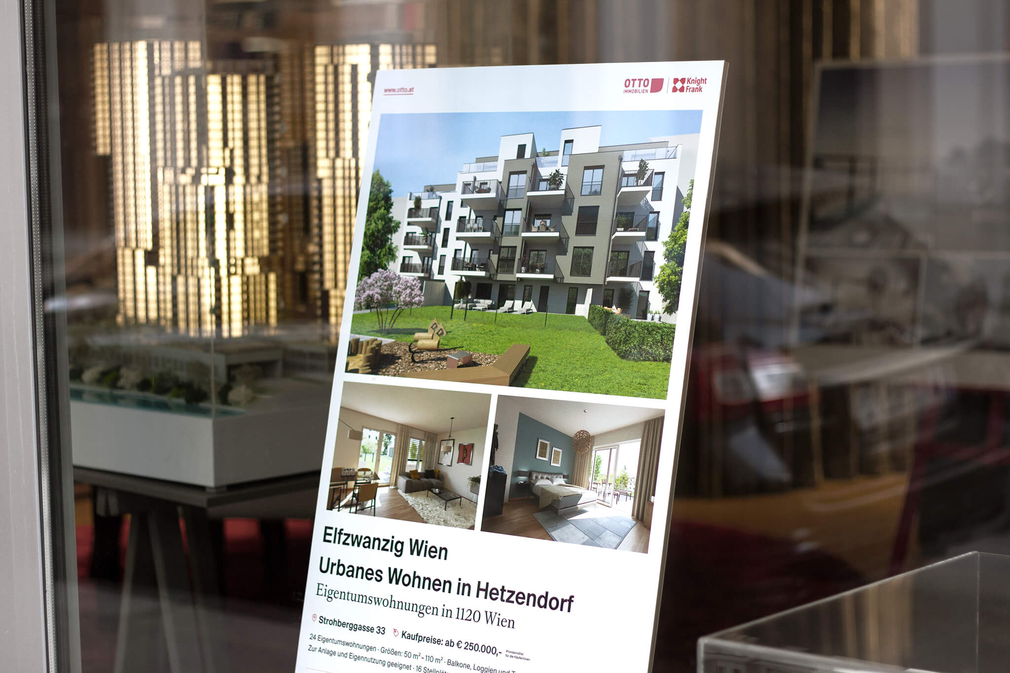 Otto Immobilien Boutique Expose Aufsteller