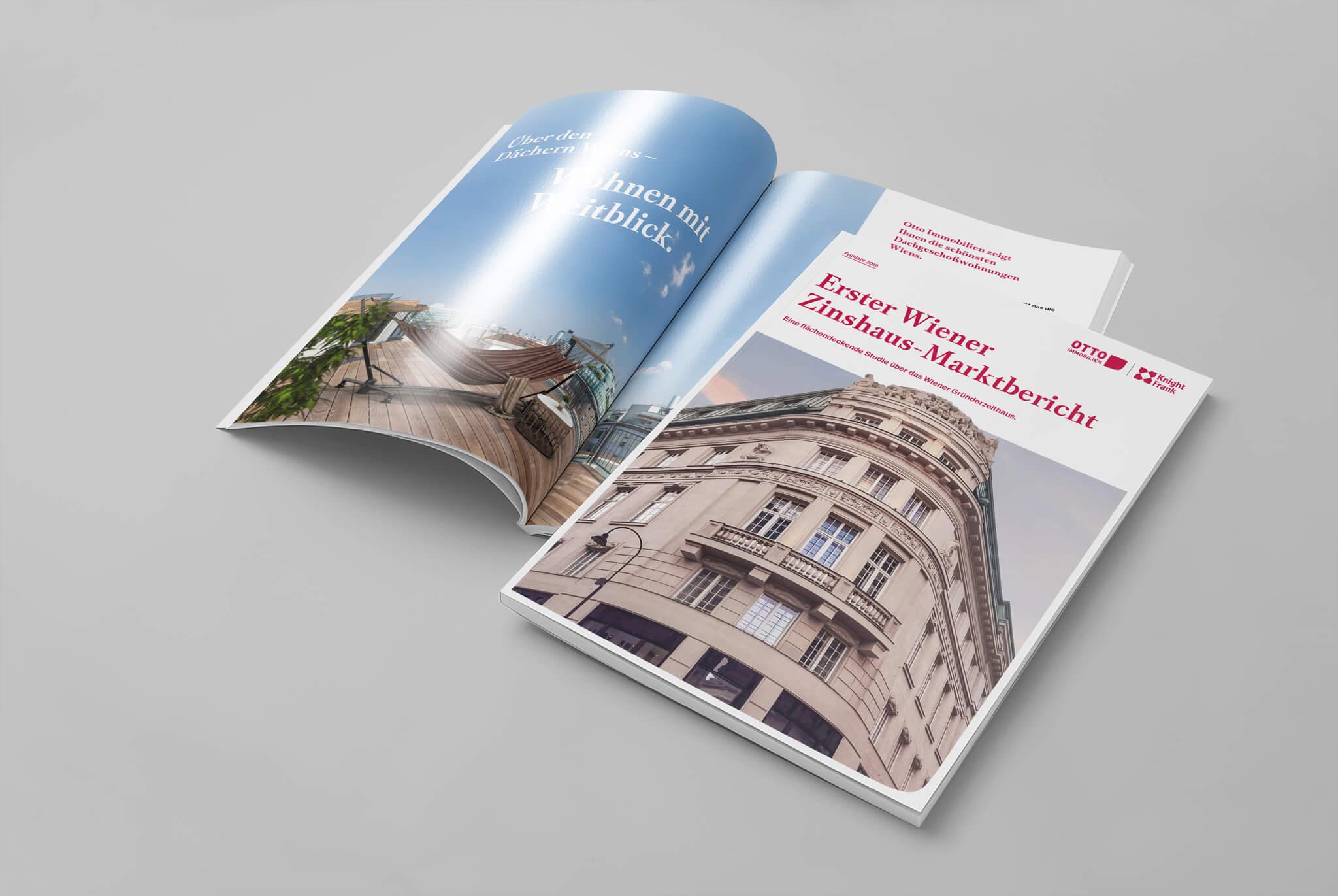 Otto Immobilien Marktbericht Cover und Innenseite