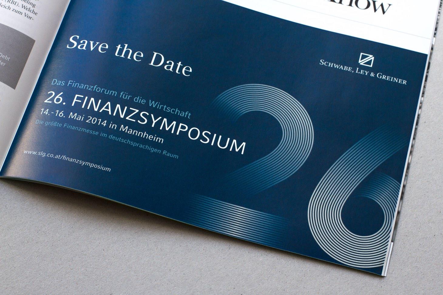 Anzeige in Broschüre für das Finanzsymposium