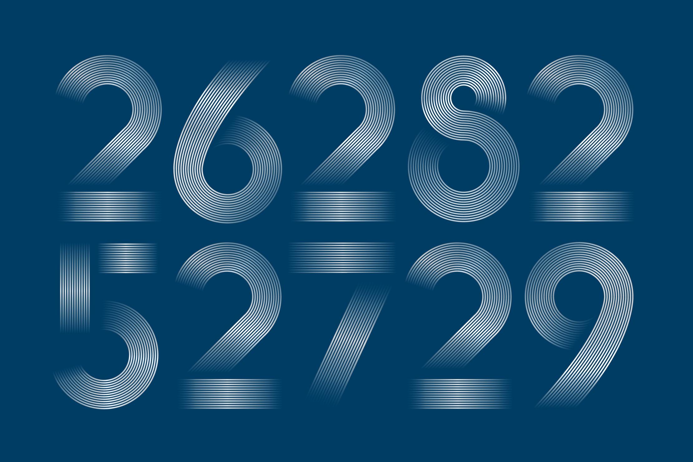 Finanzsymposium Key Visual mit inszenierten Zahlen