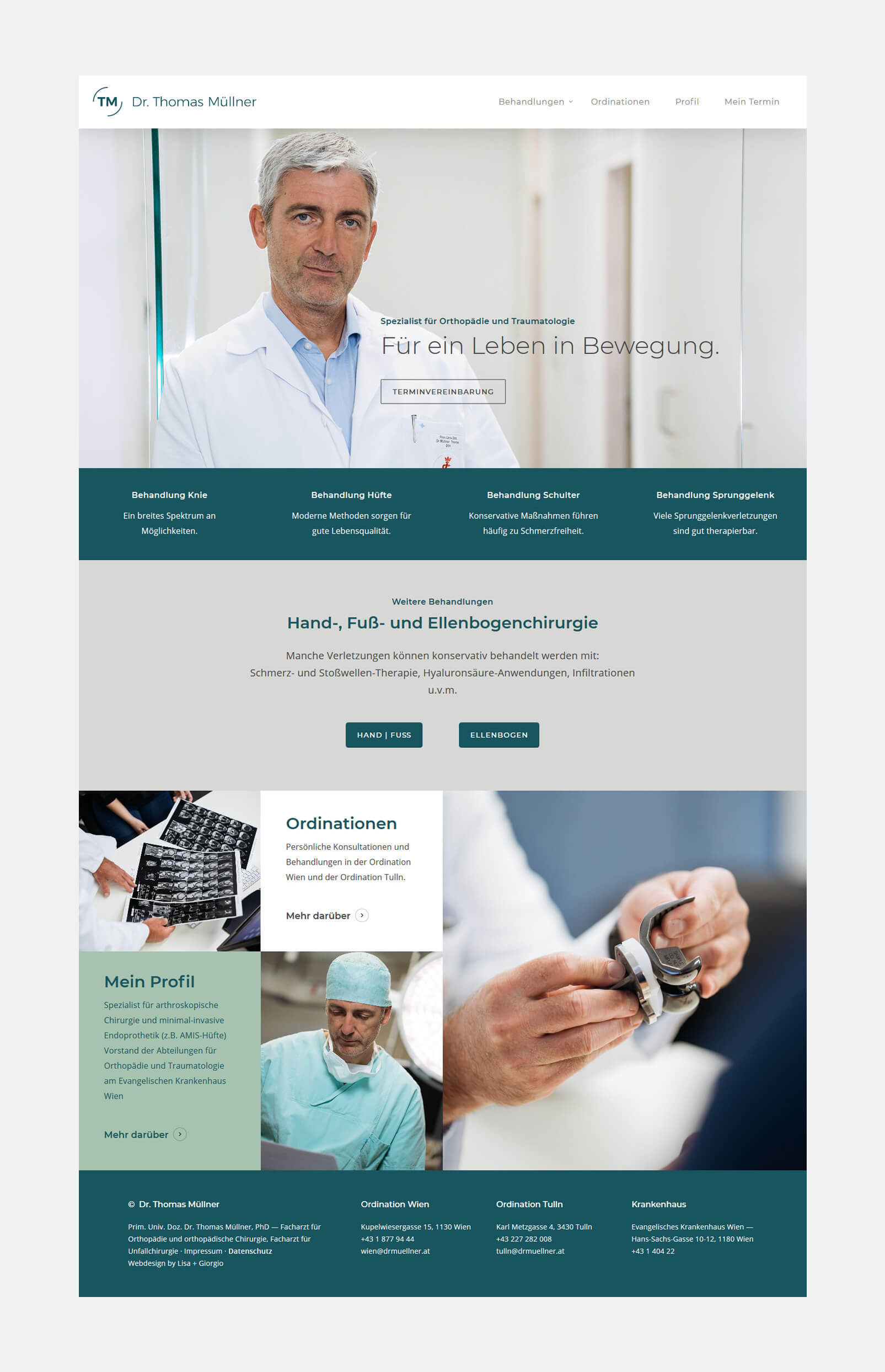 Dr. Müllner Website