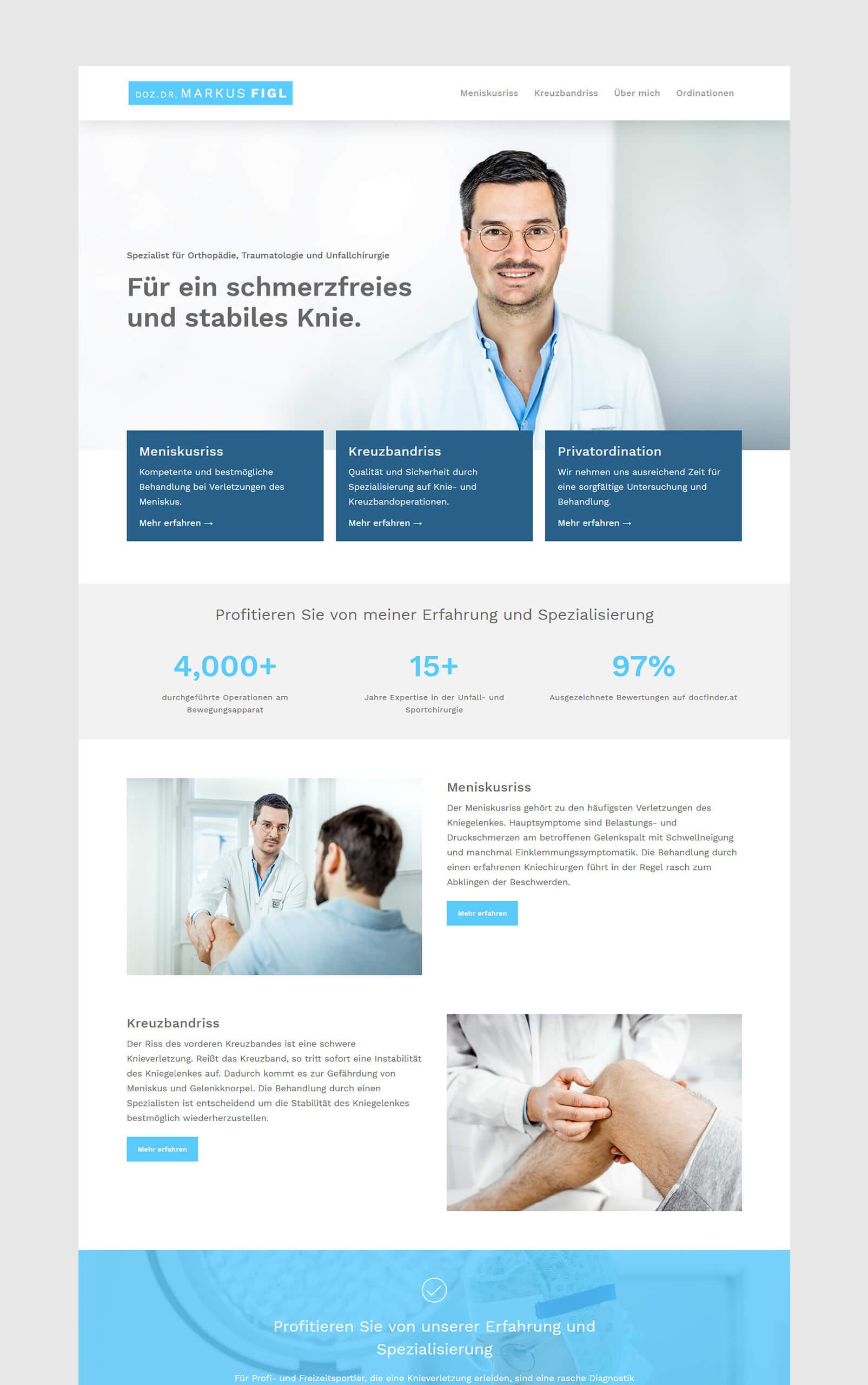 Dr. Figl Website Flat