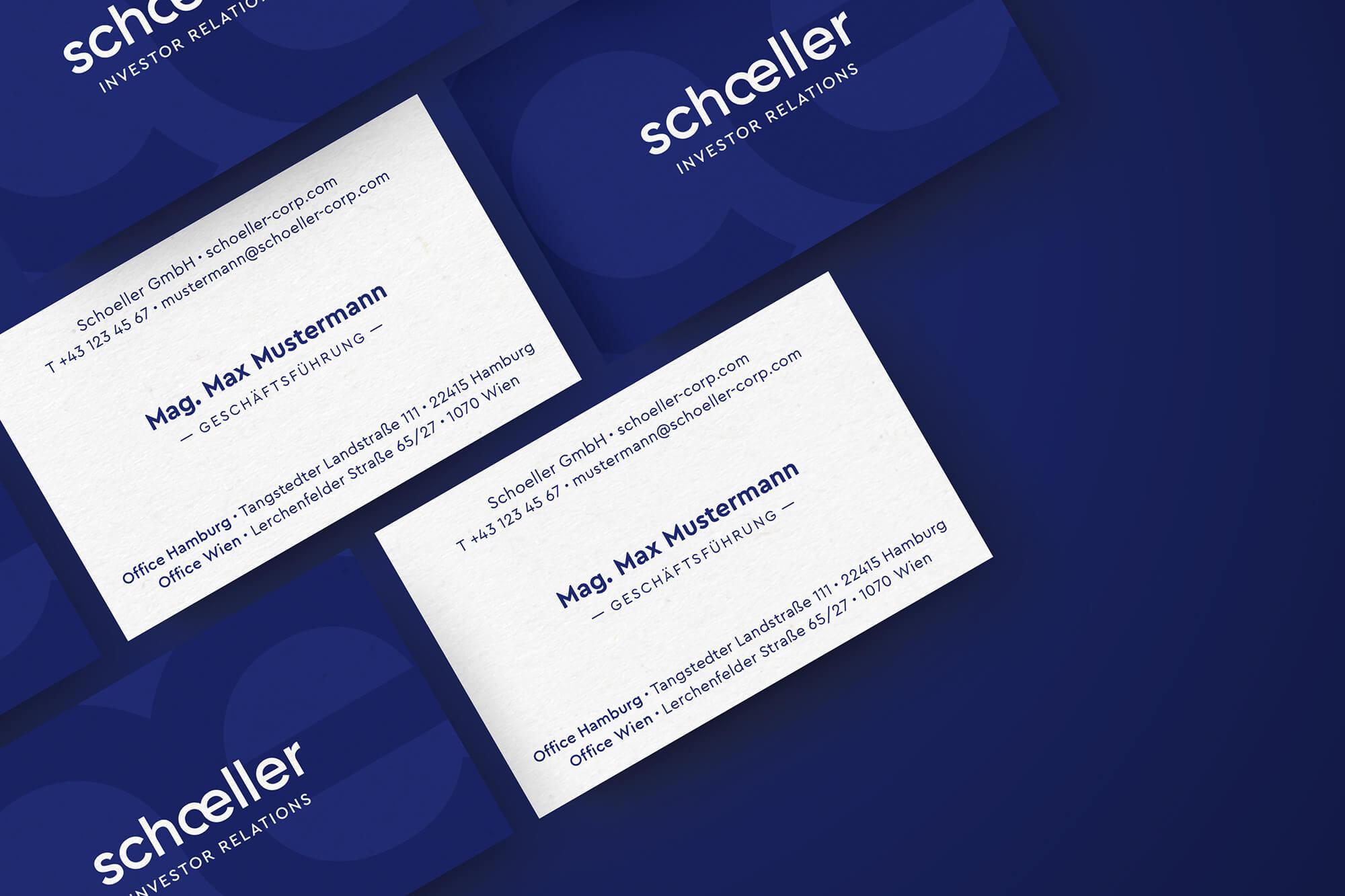Schoeller Visitenkarte